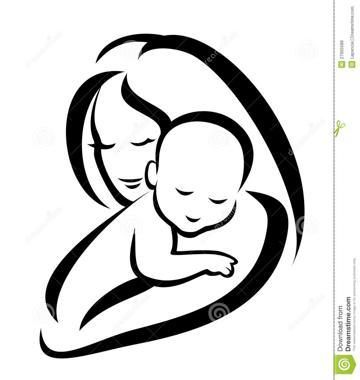 Mama And Baby Clipart