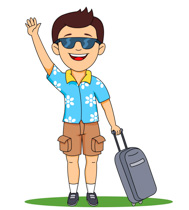 Man Holding Travelling Bags And Smiling -Man holding travelling bags and smiling travelling clipart. Size: 60 Kb-0