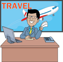 Man Holding Travelling Bags And Smiling -Man holding travelling bags and smiling travelling clipart. Size: 60 Kb-1