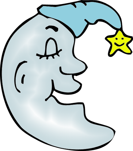 Man In The Moon Blue Png Clipart By Clipartcotttage On Deviantart