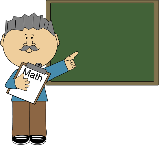Man Math Teacher Clip Art
