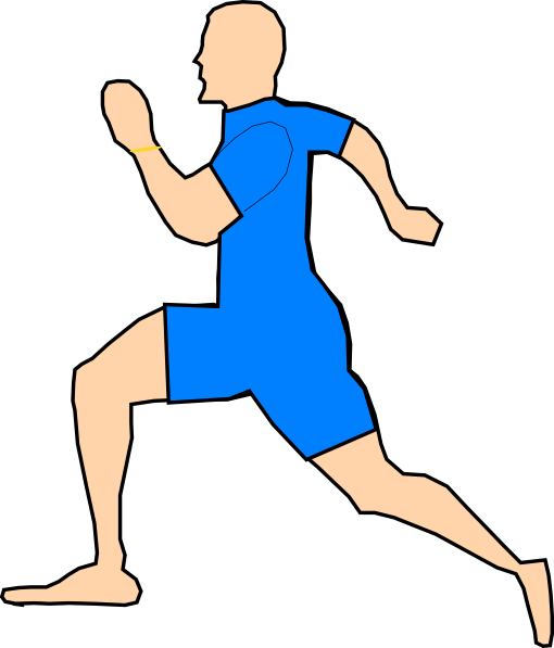 Man Running In Light Blue Clip Art At Clker Com Vector Clip Art