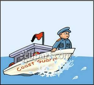 Man Standing On A Coast Guard Boat Royal-Man Standing On A Coast Guard Boat Royalty Free Clipart Picture-3