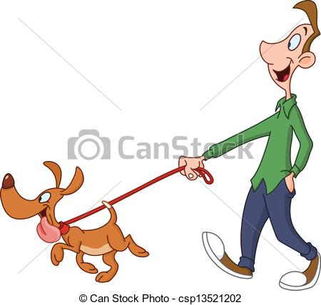 Man walking dog Vector Clipartby ...-Man walking dog Vector Clipartby ...-14