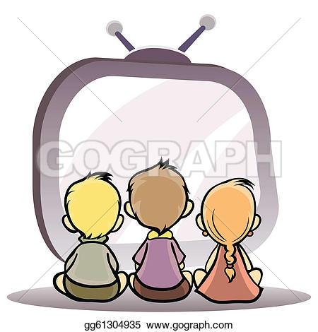 Man watching television u0026middot; Children watching tv