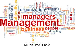 ... Management word cloud - Word cloud concept illustration of.