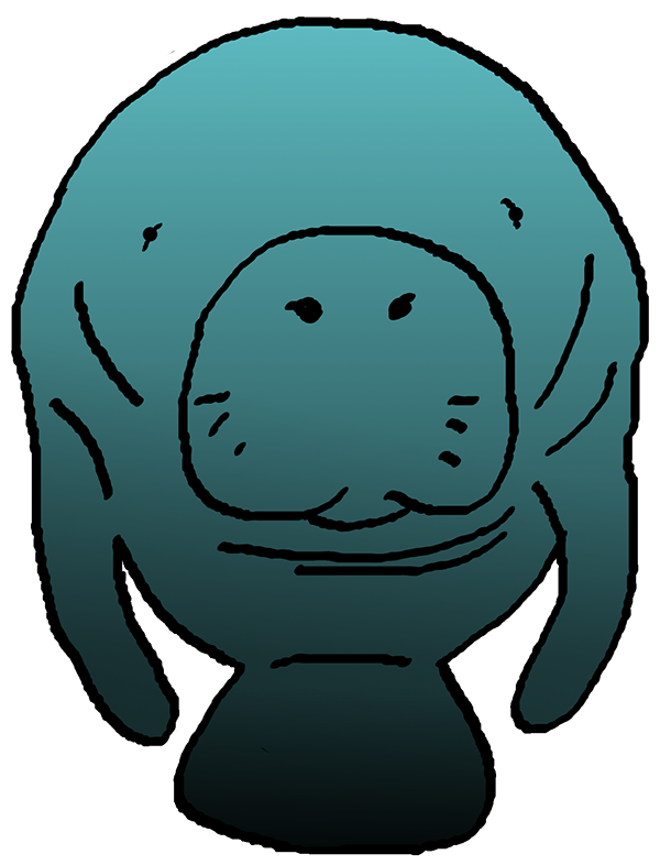... manatee clipart images. Each design was created in a range of colors to match the schoolu0026#39;s colors as well as more natural colors.
