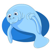 Manatee Clipart Size: 78 Kb From: Marine Life Clipart