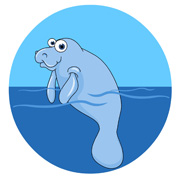 Manatee Swimming Size: 69 Kb From: Marine Life Clipart