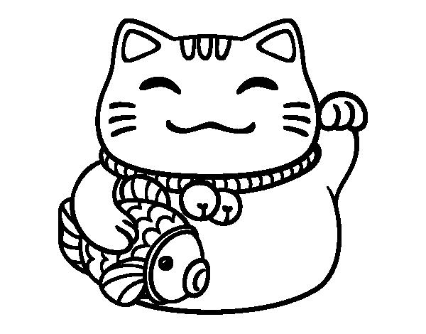 600x470 Maneki Neko Line Drawing-600x470 Maneki neko line drawing-2