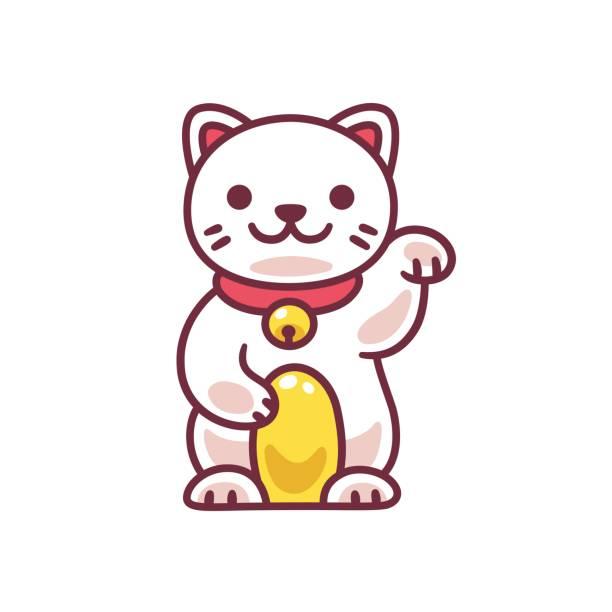Cute Maneki Neko Vector Art Illustration-Cute Maneki Neko vector art illustration-6