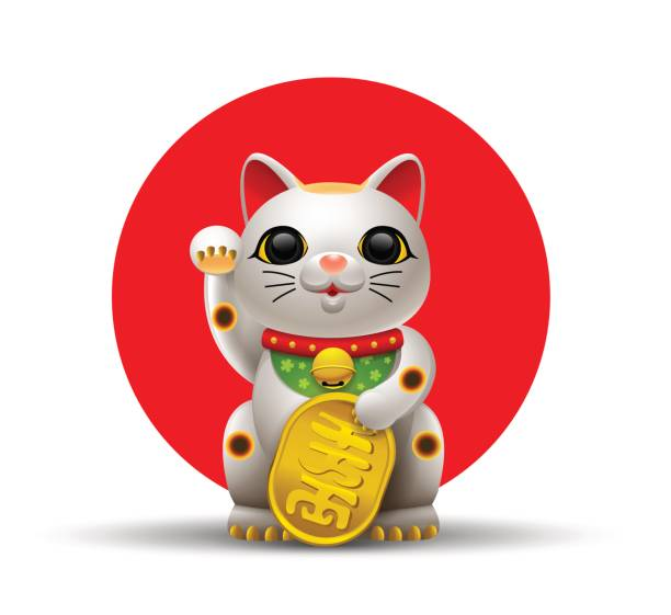 Japan Cat Maneki Vector Art Illustration-japan cat maneki vector art illustration-8