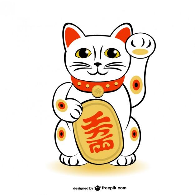 Maneki-neko Lucky Cat Vector Free Vector-Maneki-neko lucky cat vector Free Vector-18