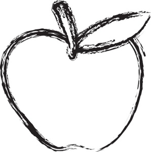 mango clipart black and white - Clipart Of Apple