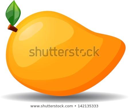 Yellow ripe mango clipart