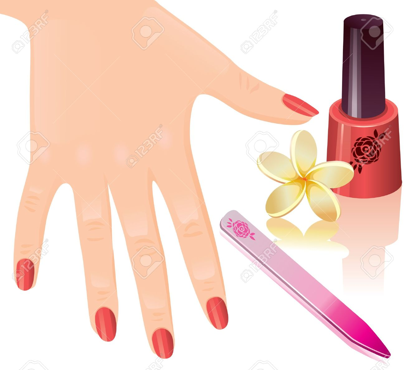 manicure: The beautiful femal - Manicure Clip Art
