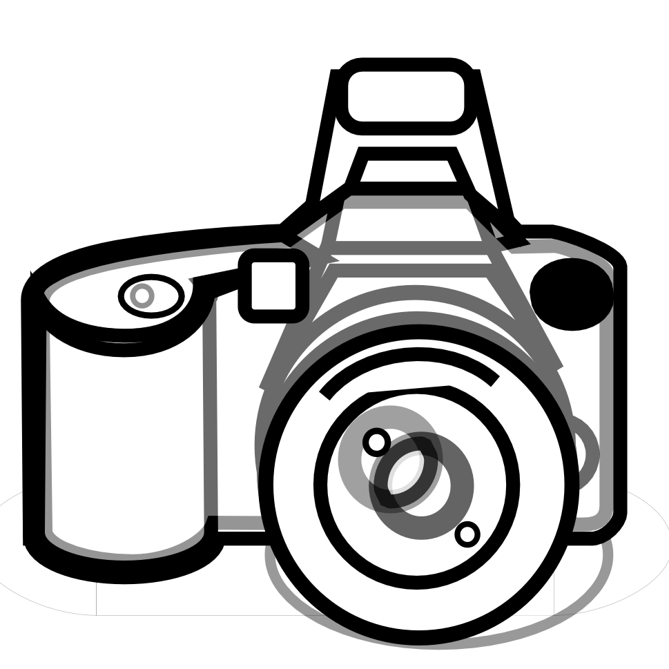 mansion clipart black and whi - Clipart Of Camera