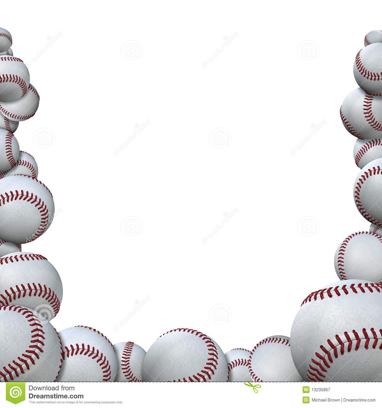 Many Baseballs Form Baseball Season Sports Border Royalty Free Stock