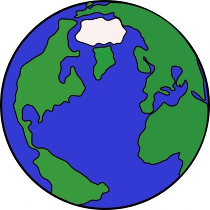 Map Clip Art Of The World . - The World Clipart