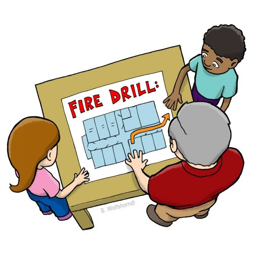 Map Fire Drill Clipart
