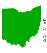 Map of Ohio Stock Illustratio - Ohio Clip Art