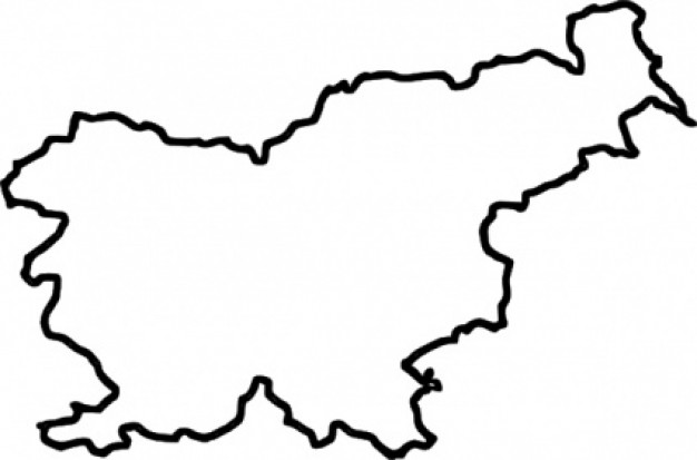 Map Of Slovenia (in Europe) .