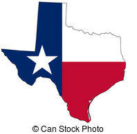 ... Map of Texas in national colors-... Map of Texas in national colors-6