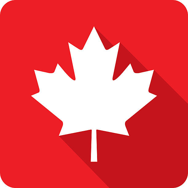 Canadian Maple Leaf Icon Silhouette Vect-Canadian Maple Leaf Icon Silhouette vector art illustration-1
