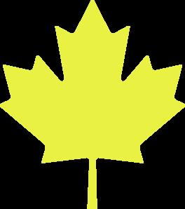 Yellow Maple Leaf Clip Art-Yellow Maple Leaf Clip Art-18