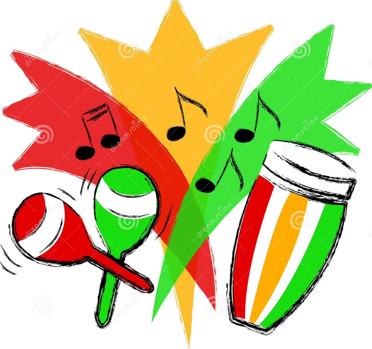 Maracas Clipart A Conga Drum And Maracas-Maracas Clipart A Conga Drum And Maracas-13