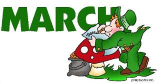 March and leprechauns