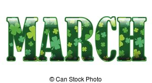 March clip art for calendar .