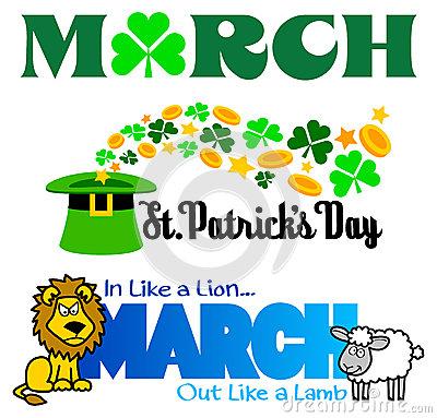 March Events Clip Art Set 29285474