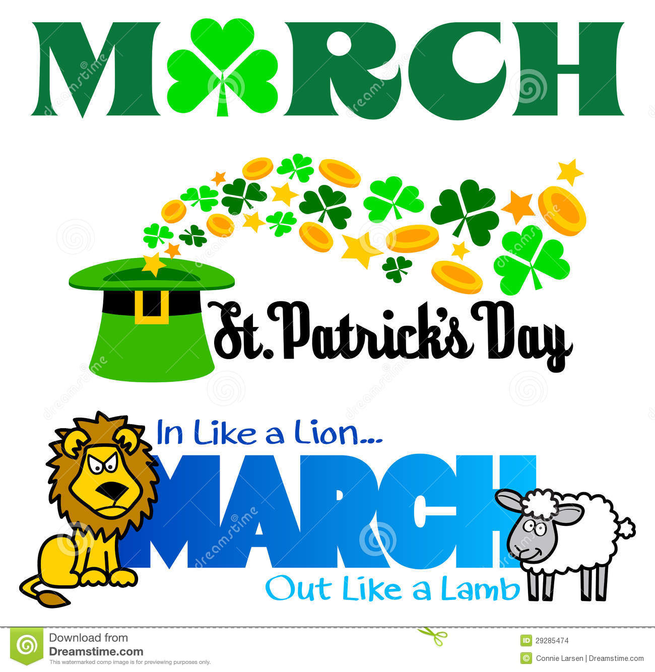 March Events Clip Art Set/eps Stock Images