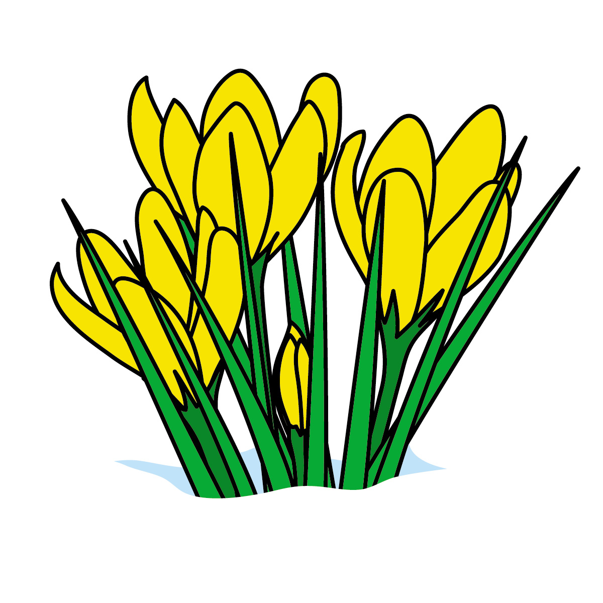 ... March Flowers Clipart; Spring ...