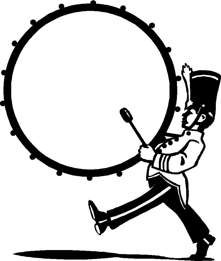 marching bass drum clip art-marching bass drum clip art-1