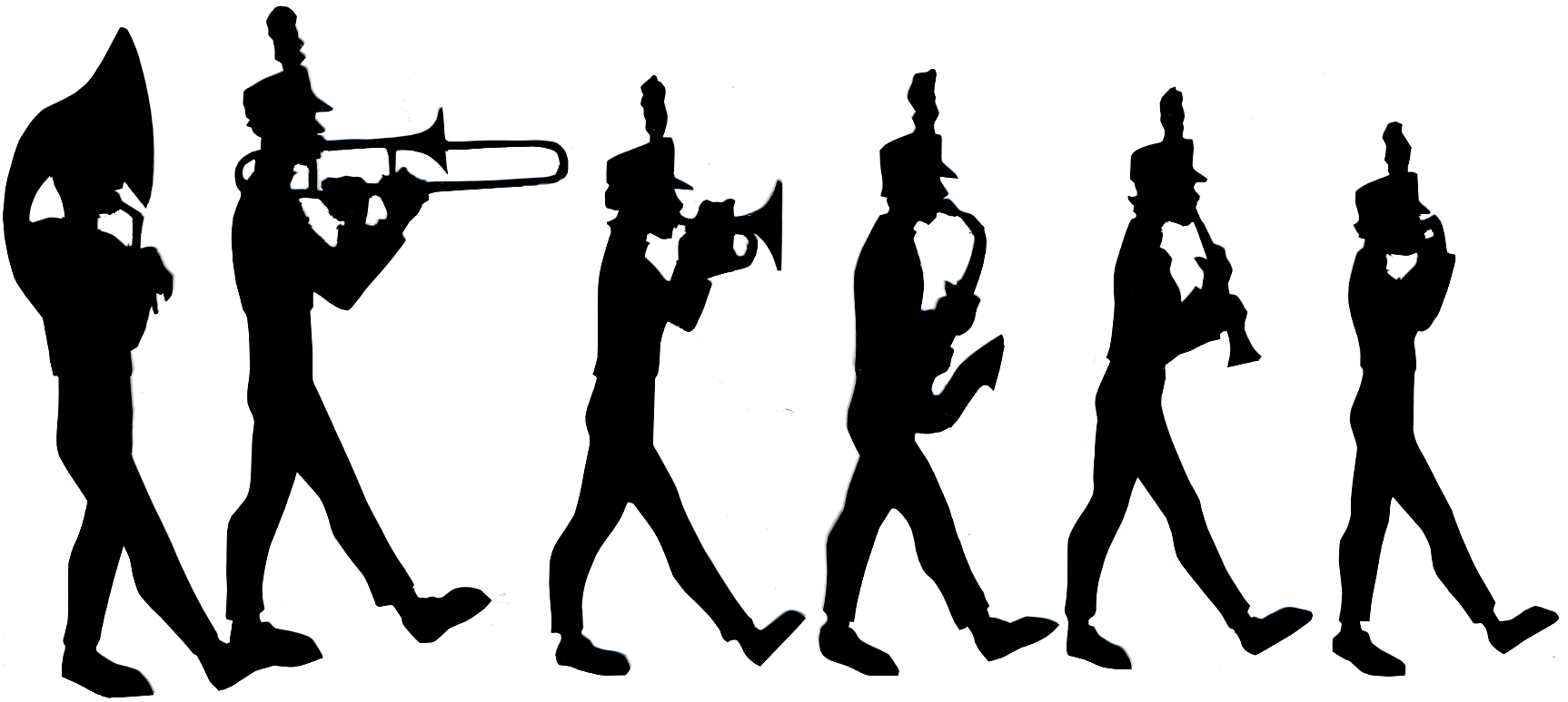 Marching Band Saxophone Silhouette-Marching Band Saxophone Silhouette-12