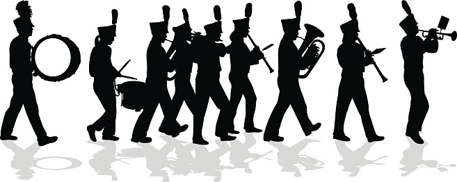 Marching Band Silhouette Full .-Marching Band Silhouette Full .-13