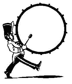 Marching Bass Drum Clip Art