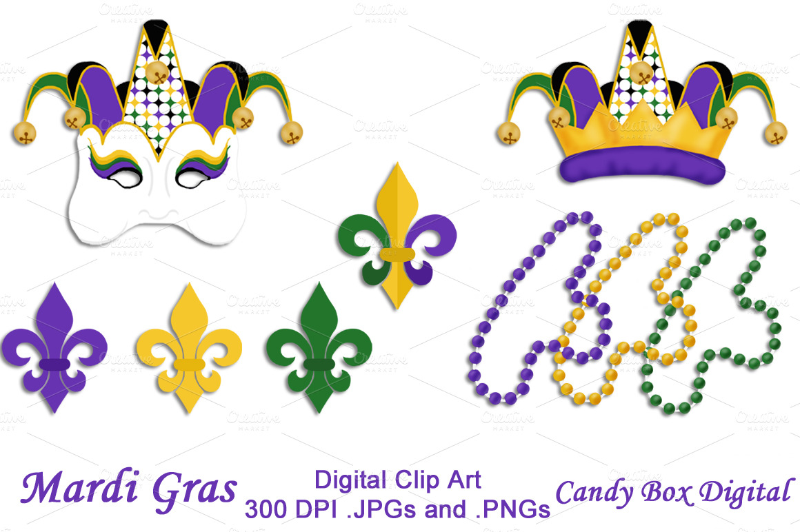 Mardi Gras Clip Art Illustrations On Creative Market