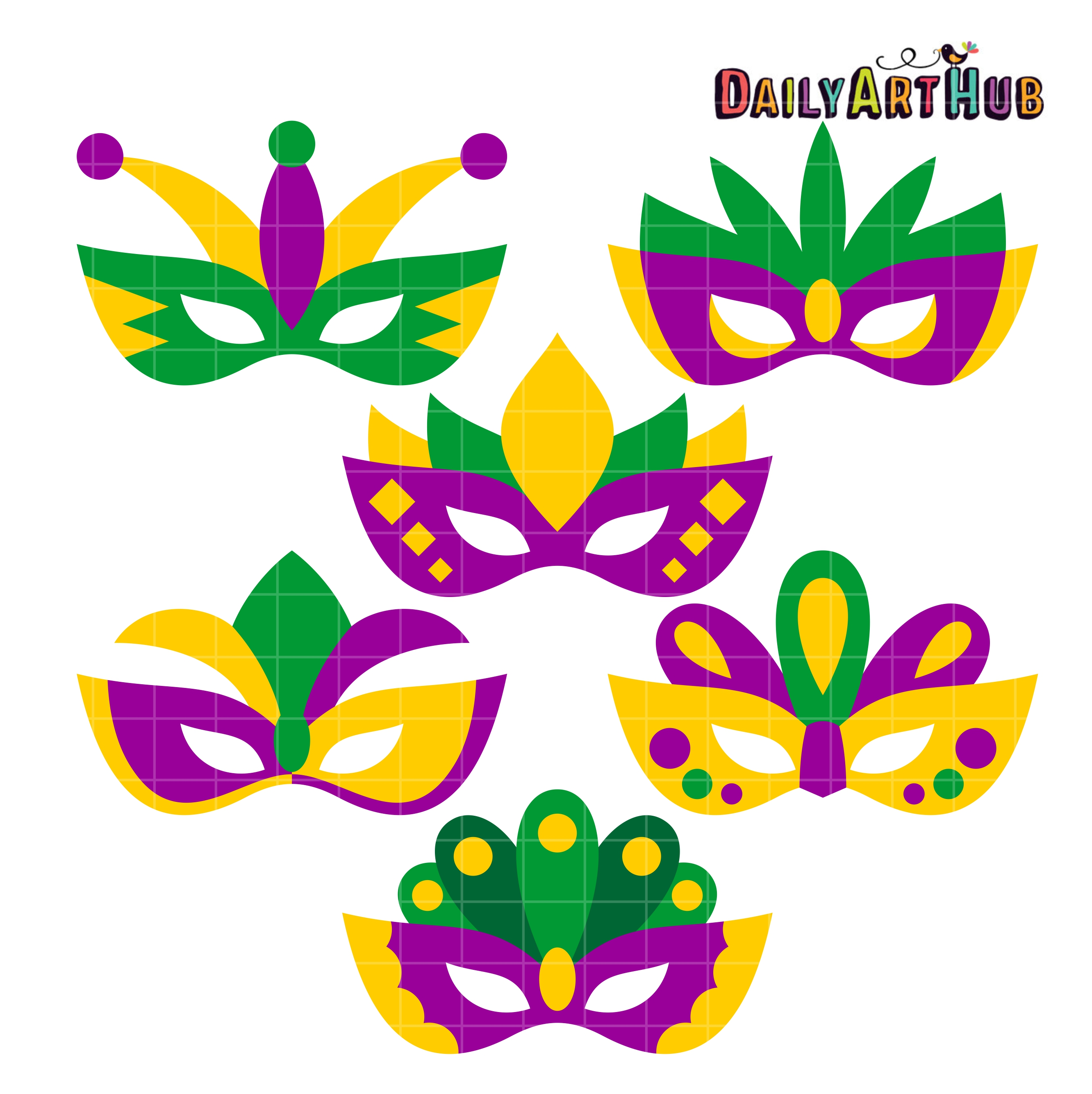 Mardi Gras Clip Art. Mardi Gras Masks