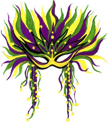 Mardi Gras Mask Ornament Kit .
