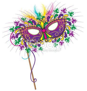 Mardi Gras mask vector art