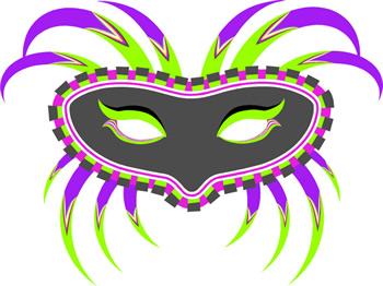Mardi Gras Masks Clip Art 1
