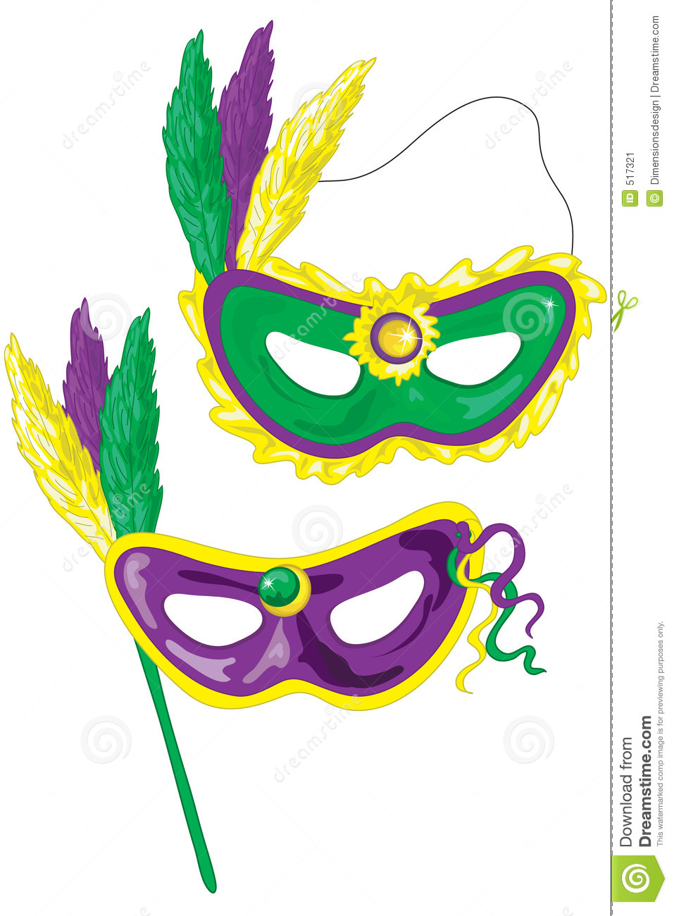 Mardi Gras masks. Mardi Gras masks. Mardi Gras Mask Clipart