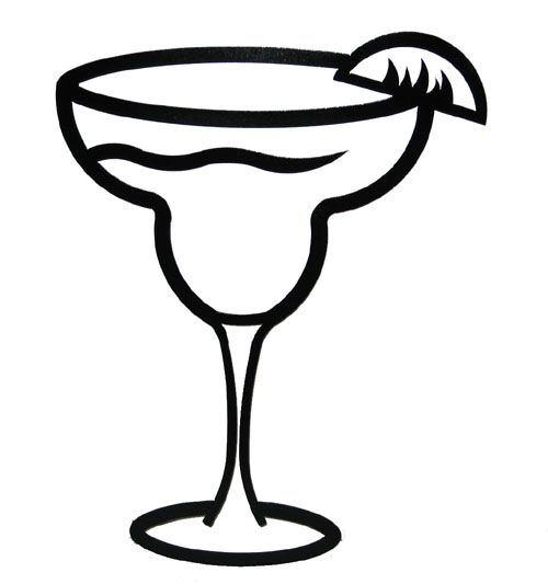 Margarita Glass Clip Art .. - Margarita Glass Clip Art
