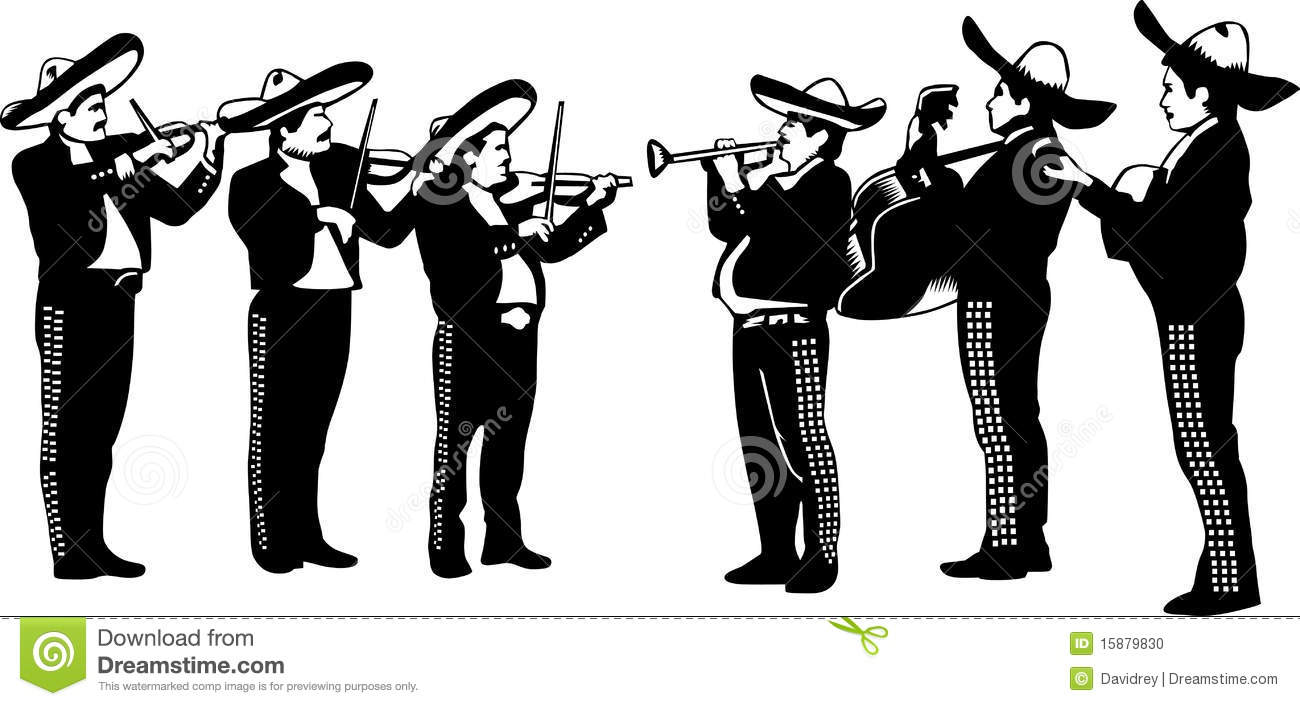 Mariachi Cartoon Playing Trumpet Stock P-Mariachi cartoon playing trumpet Stock Photo-18