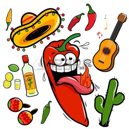 Mariachi: Mariachi Chili Pepper Mexican -mariachi: Mariachi chili pepper Mexican vector set Illustration-17