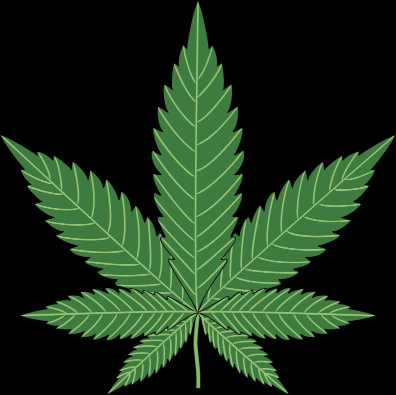 Marijuana Leaf Clip Art. Clipart - Nature