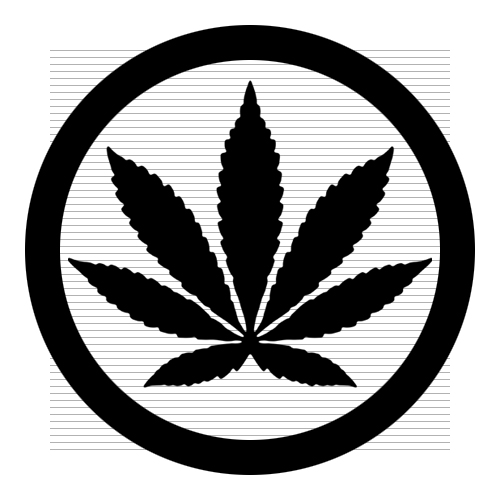 Marijuana Leaf With Circle .